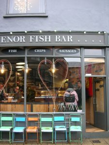 Big hearts showing the big love from The Grosvenor Fish Bar on Lower Goat Lane, Norwich