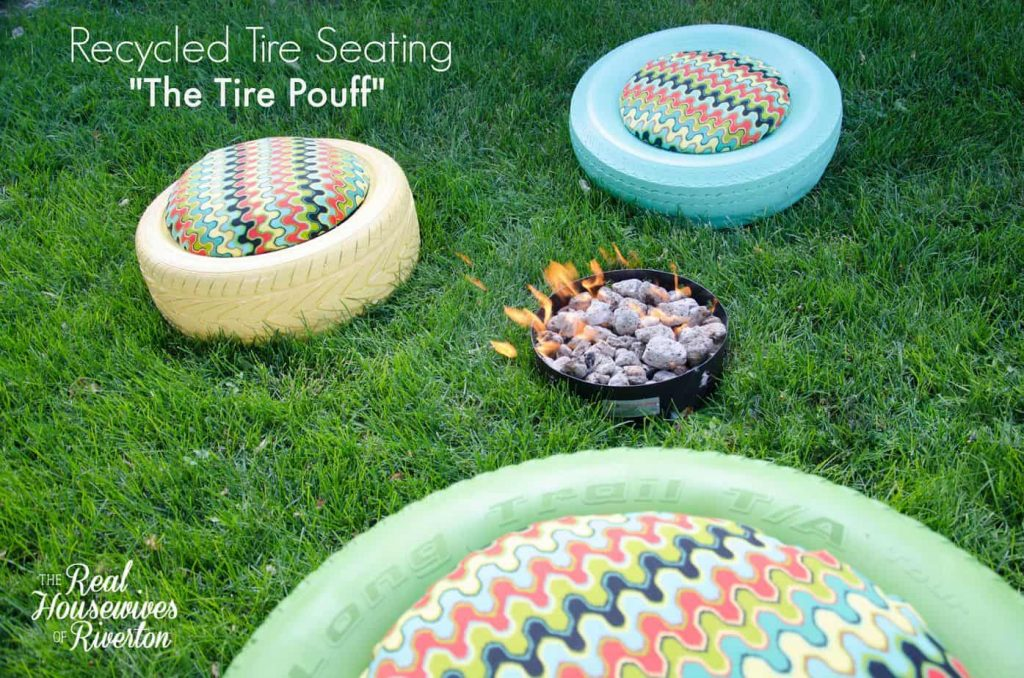 Recycled Tire Seating - The Tire Pouff