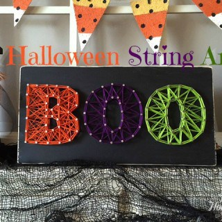 Boo Halloween String Art Tutorial