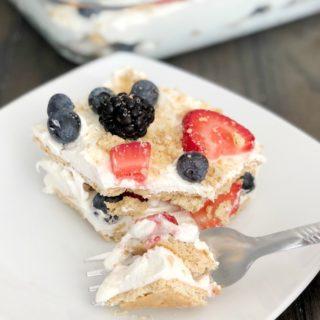 Summer Berry Ice Box Cake