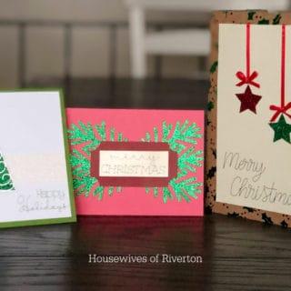 DIY Christmas Cards with Cricut