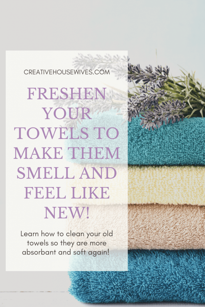 clean towels with vinegar