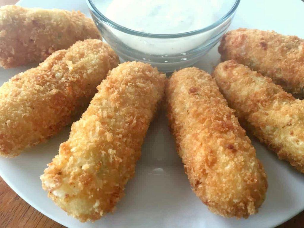Mashed Potato Mozzarella Sticks - finished