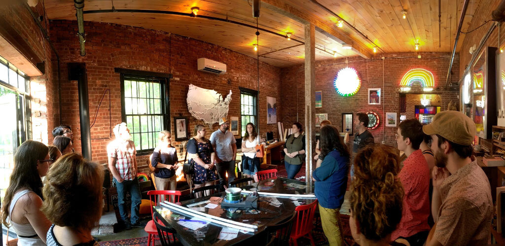 A Connect with Creatives event organized by Shauna Keating at Lite Brite Neon in Kingston with AIGA Upstate NY