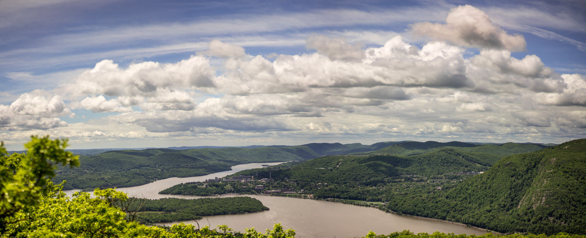 Clouds over the Hudson River