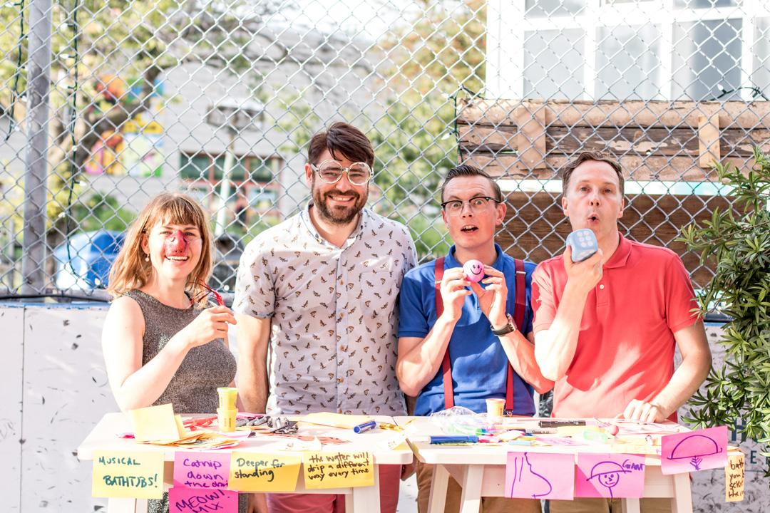 Alexadanra Simpson, Brandon McFarlane, Christopher Hedrick, Allan Turner. Photo by Kate Dockeray.