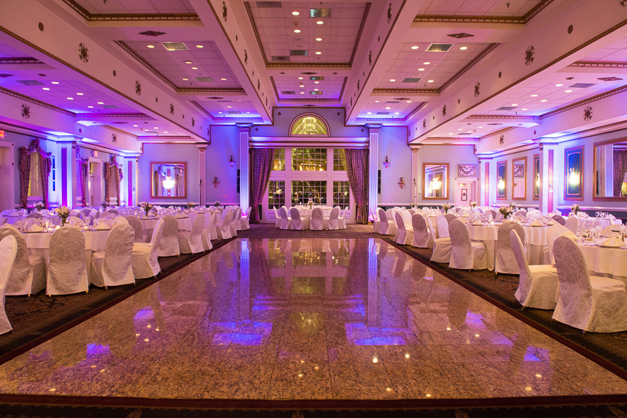 Mendenhall Inn Grand Ballroom with up lighting for reception