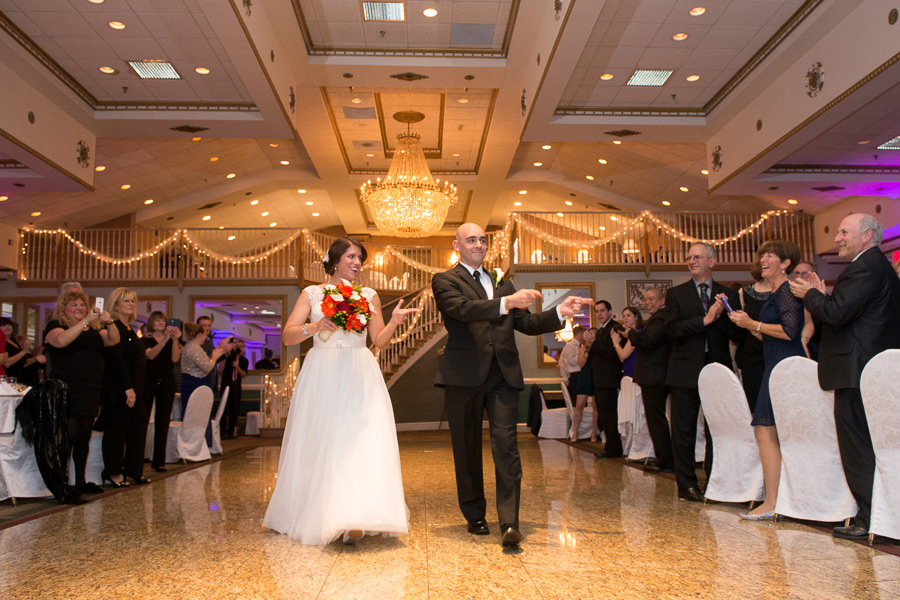 Newlyweds dance as they are introduced into Mendenhall Inn wedding reception