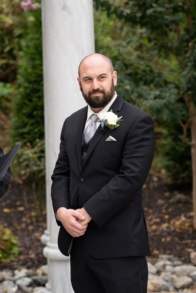 Grooms watched bride walk down the aisle
