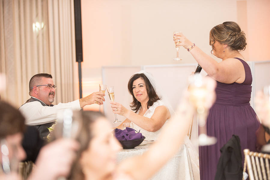 Matron of honor toasts the bride and groom