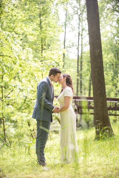 Intimate Delaware wedding bride and groom