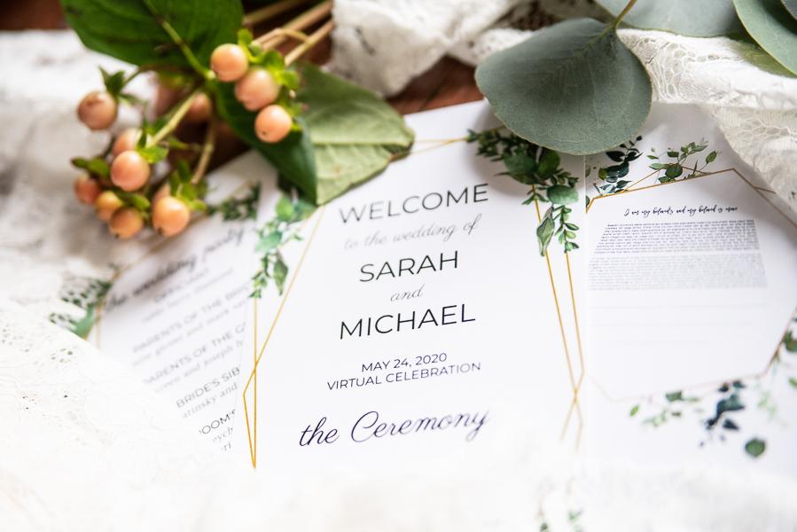 Intimate Delaware wedding invitation