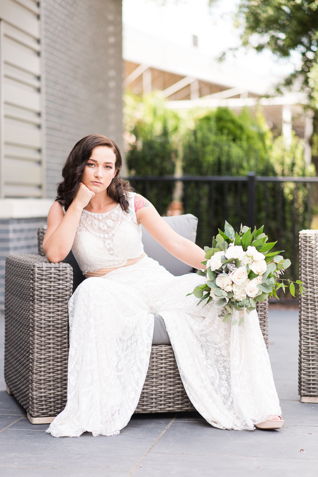 Bride in Wedding Jumpsuit