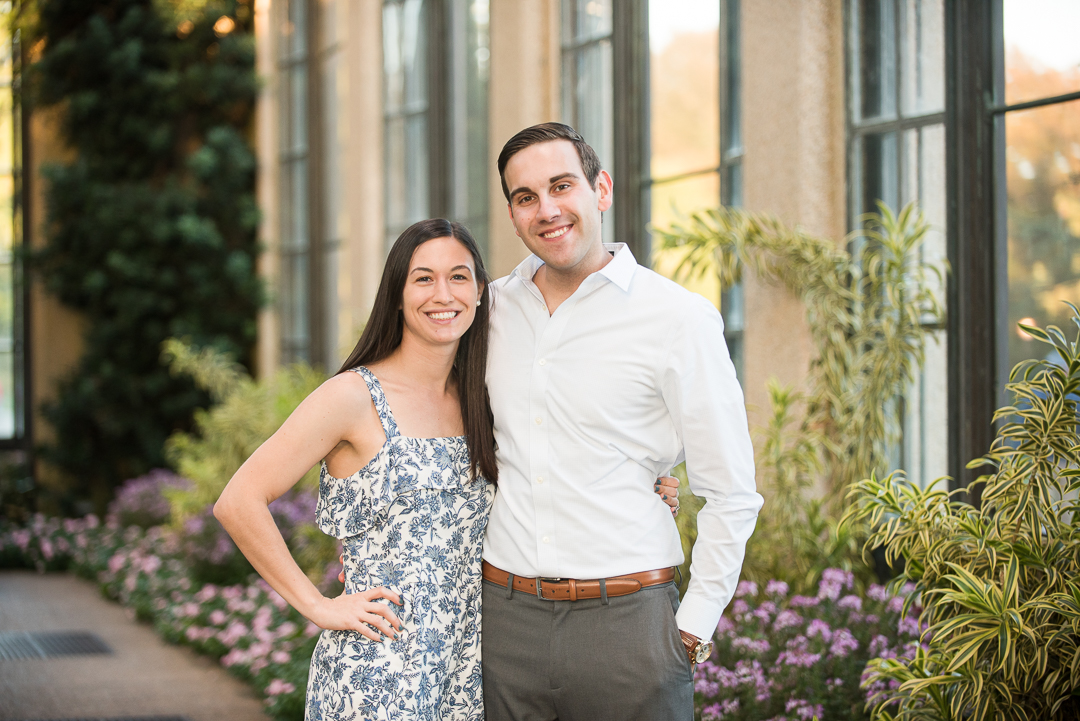 Longwood Gardens Engagement Picture