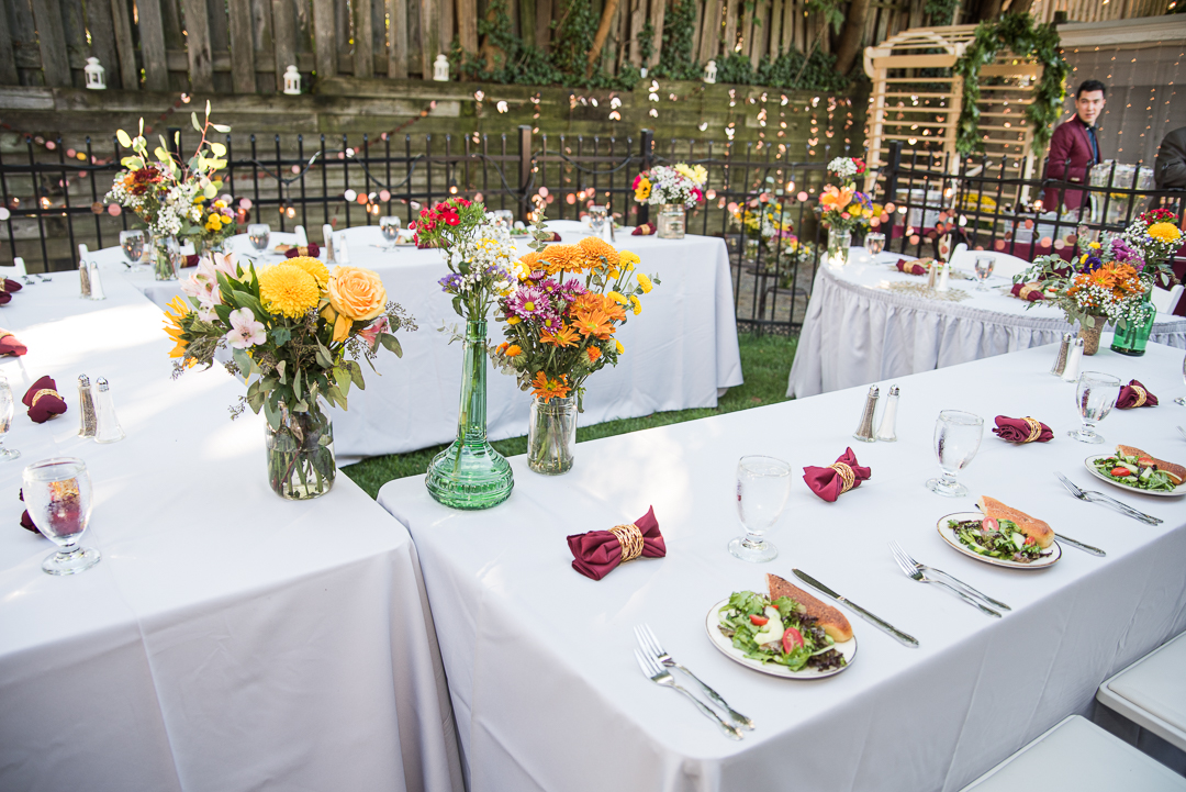 Small Delaware backyard wedding