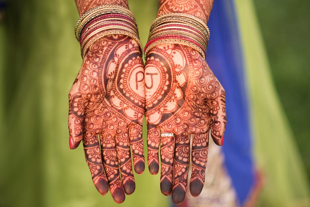 Henna artwork for engagement session