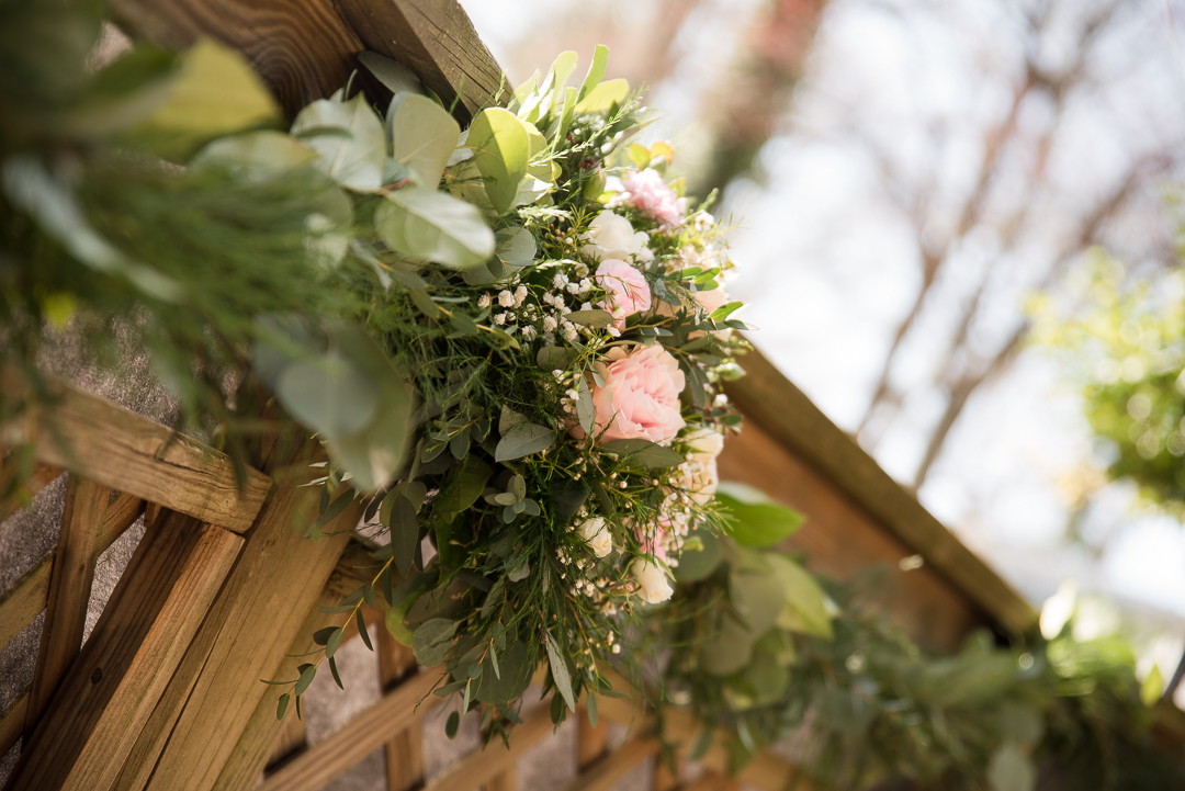 floral and greenery garland