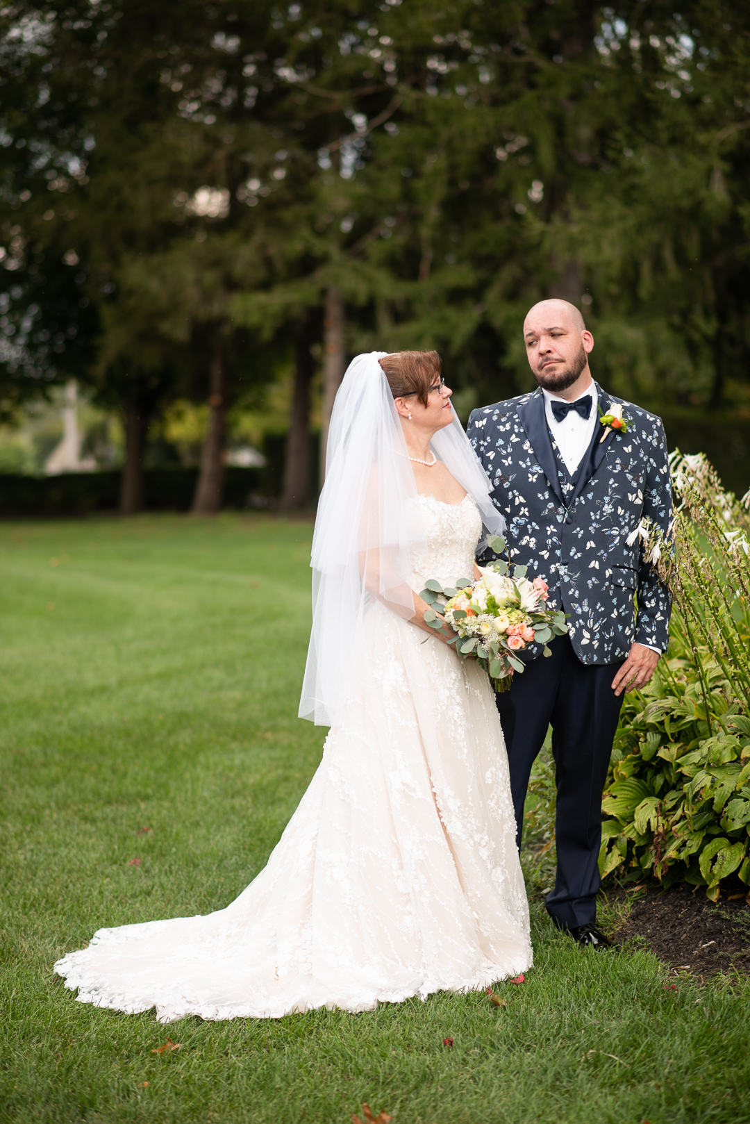 bride and groom at North Hills Country Club
