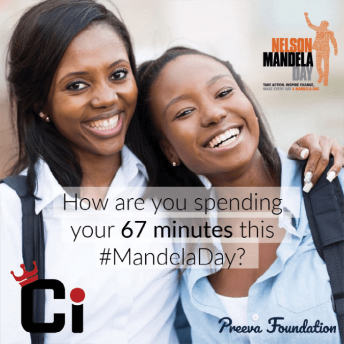 Mandela Day a time to take action & inspire change