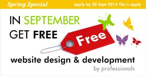 Free website design and development for the month of September 2014