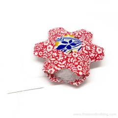 not my image.. but .. hexagon flower pincushion made by someone very clever