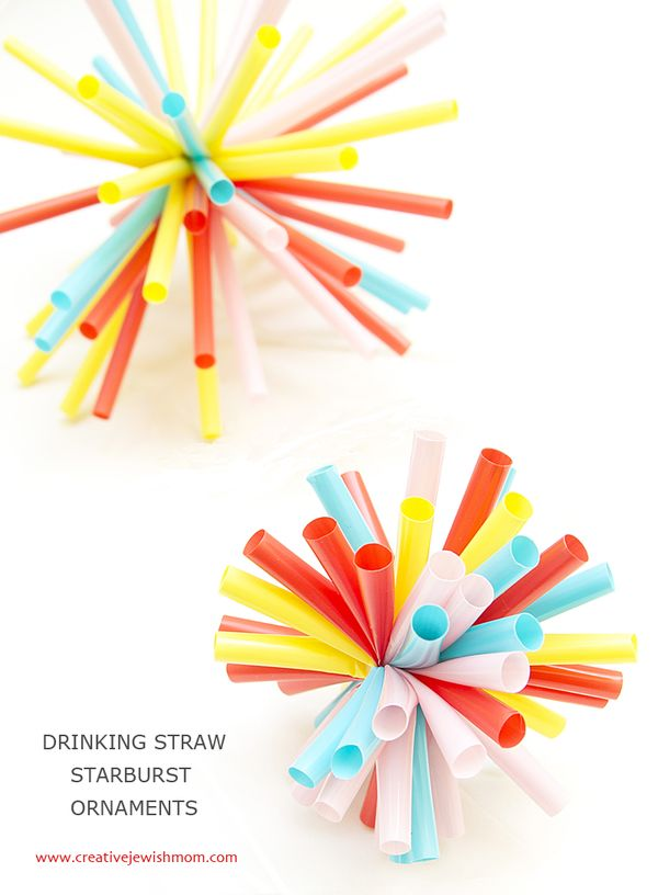 Quick Drinking Straw Starburst Ornaments Perfect For So