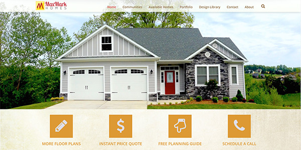 MaxMark Homes Website