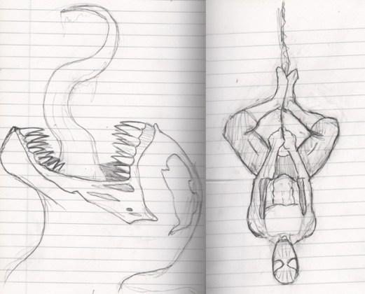 Venom and Spider-Man sketches