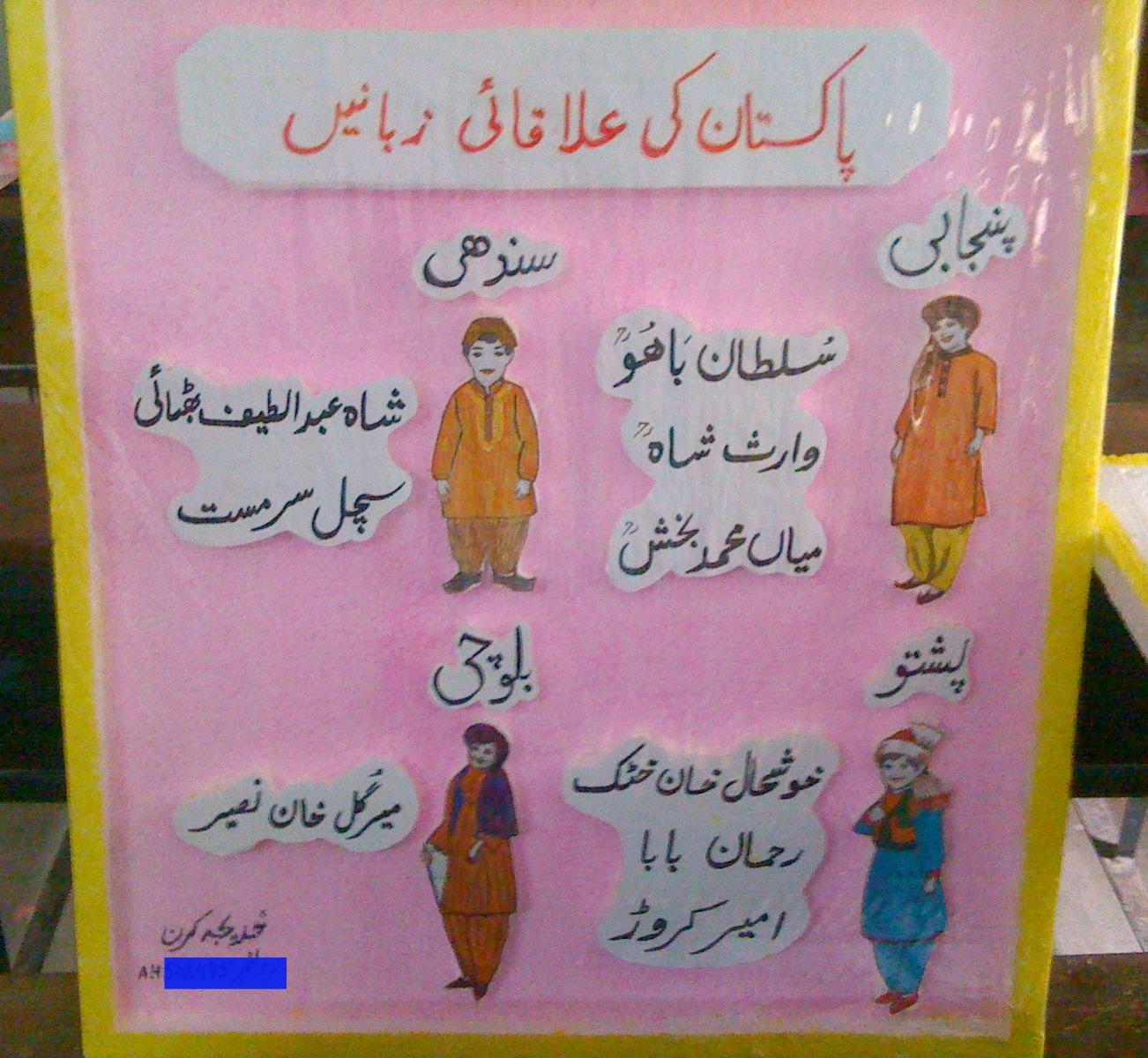 Class Decoration Charts In Urdu