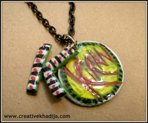 clay pendant necklace making tutorial