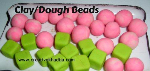 clay dough beads making