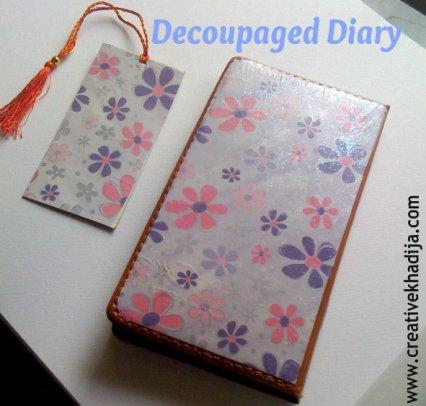 decoupage diary tutorial