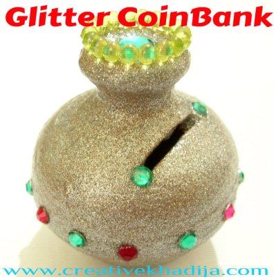 glitter coin bank coin box