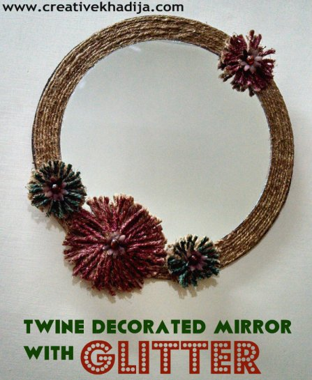 twine decorated mirror wall art