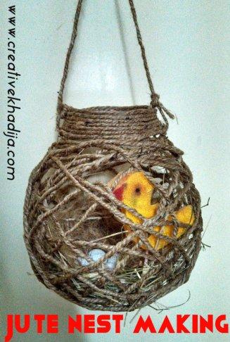 Jute nest making