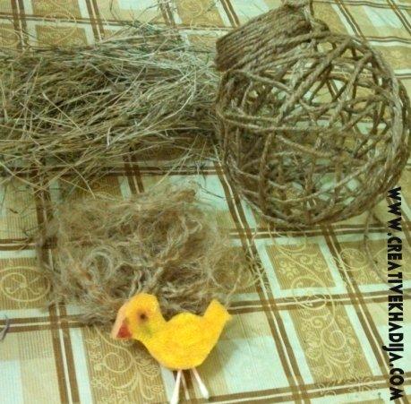 bird nest making tutorial