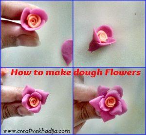 how to make dough flowers