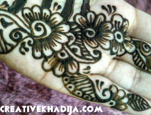 mehndi flowers design