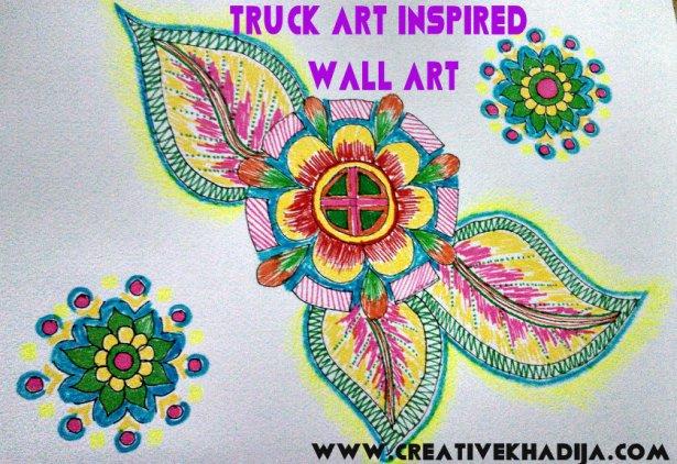 truck art inspired wall art drawings