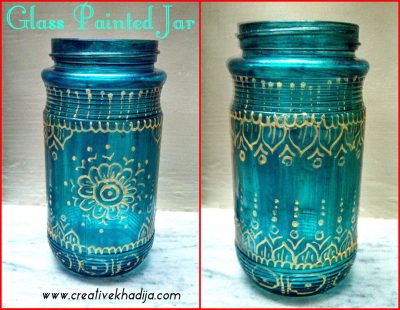 glass painted jar brushes organizer idea-design