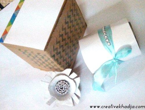 egg carton flowers making tutorial