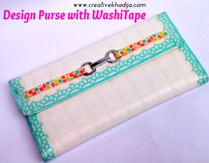 washi tape purse designing