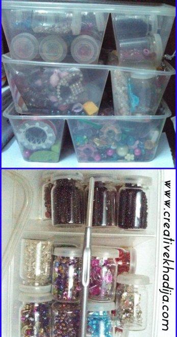 craft supplies organizing