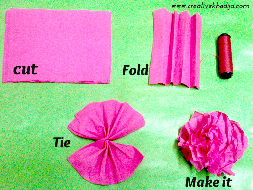 Flower making using crepe paper yelomdiffusion flower making using crepe paper how to make flower decorations billingsblessingbags org mightylinksfo