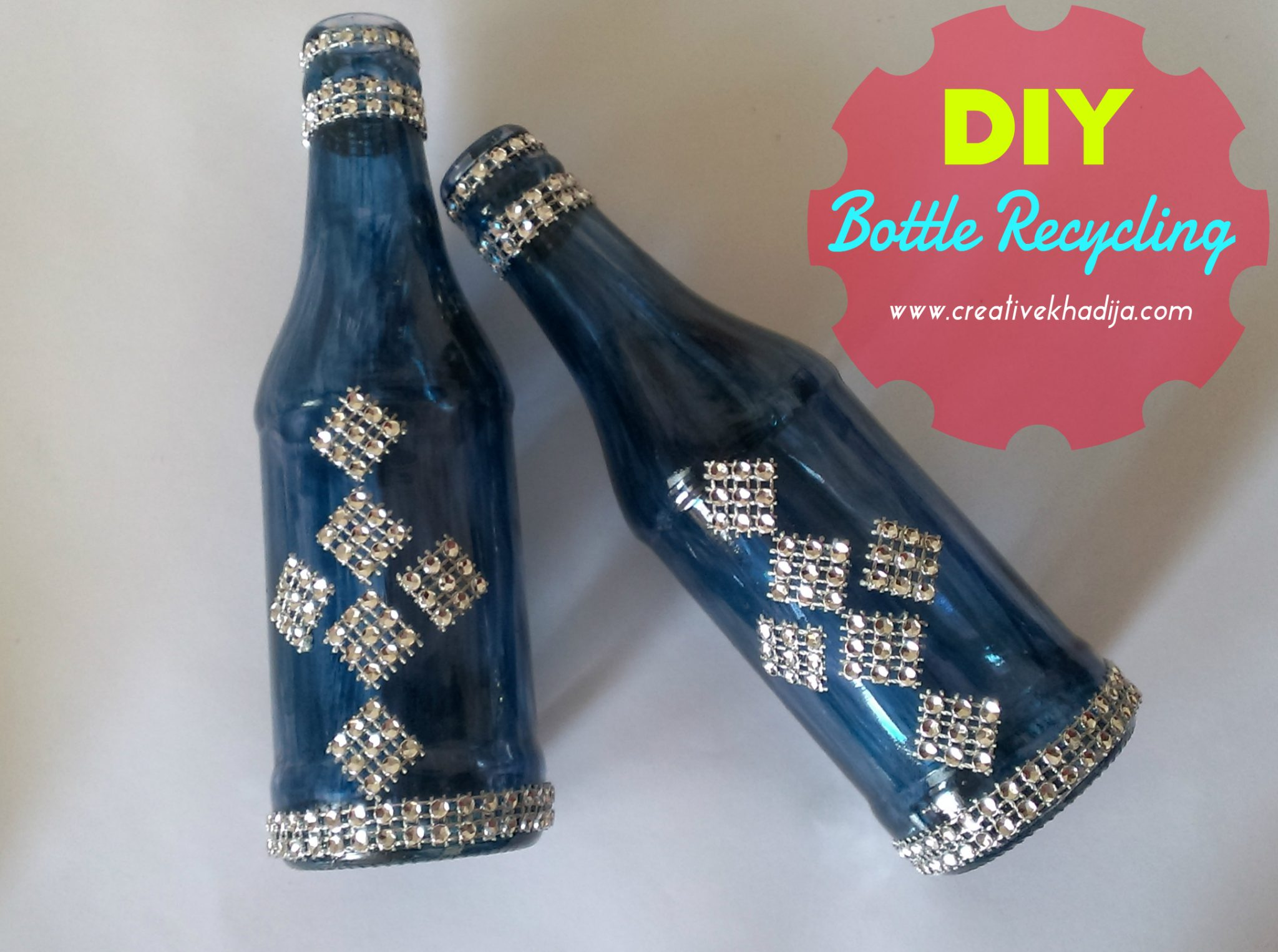 Diy glass painted bottles decoration recycling ideas for How to paint glass bottles