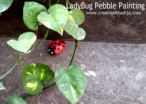 How-To Paint Ladybug Stone-Rock-Pebbles