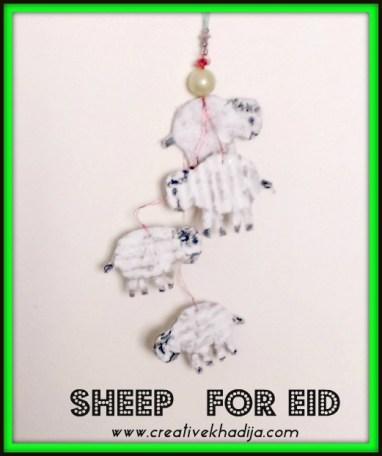 sheep making for Eid-al-adha crafts