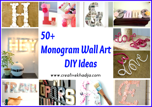 monogram wallart decor ideas