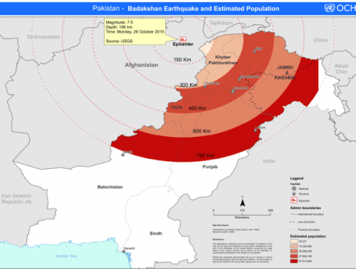 Earthquake in Pakistan October 2015