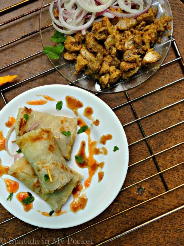 eid recipe chicken paratha roll